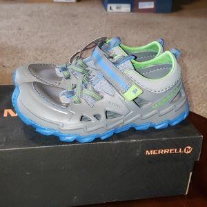 Merrell Hydro 2 Boys Sandals sz 2 Wide Gray Blue